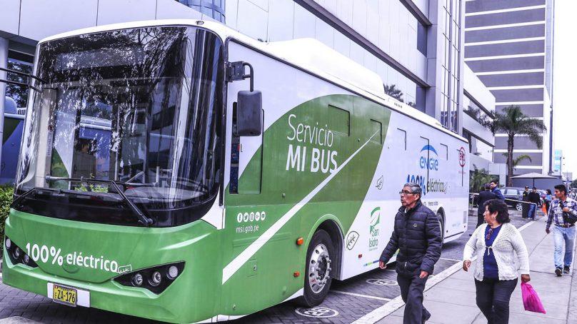 Ya circula el primer bus eléctrico en Lima y pueden usarlo gratuitamente quienes quieran