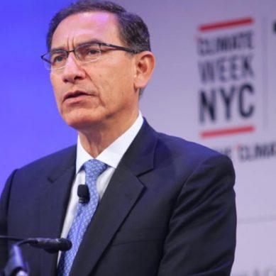 Presidente Vizcarra: «Perú se compromete a  reducir el 20% de emisiones de gases de efecto invernadero al 2030»