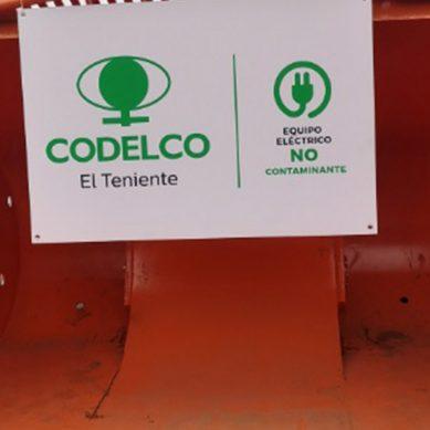 Codelco estrena primer LHD de Komatsu totalmente eléctrico de la industria minera mundial
