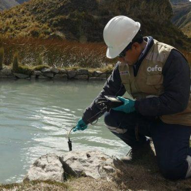Junín: OEFA supervisa descarga de aguas ácidas de Minera IRL al río Chacote