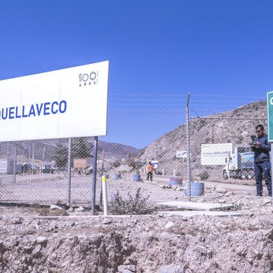 Sacyr vierte 2,500 m3 de concreto en construcción de chancador primario de Quellaveco