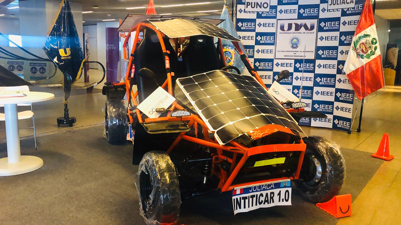 Intiticar 1.0, el auto solar construido por alumnos de la Universidad Nacional de Juliaca