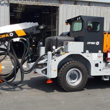 Lanzador de concreto Dingo, el nuevo equipo de Unimaq para minería subterránea