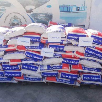 Pisco: Minsurdonó 13 toneladas de arroz para familias más vulnerables