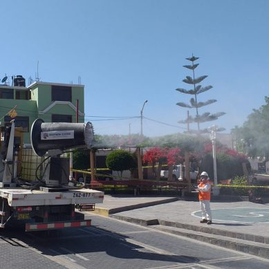 Tacna: Southern Peru desinfecta calles de Locumba y Fuerte Militar Arica