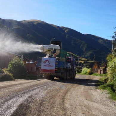 Camión fumigador de Las Bambas ha desinfectado más de 21 comunidades