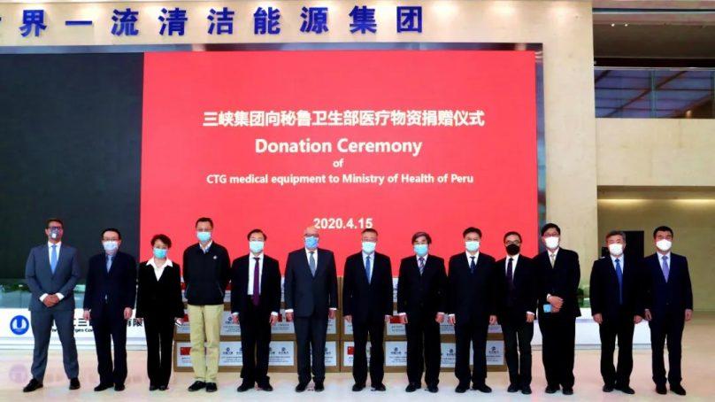 China Three Gorges dona suministros médicos al Perú valorizados en más de S/5 millones