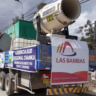 Las Bambas ha fumigado 35 comunidades y centros poblados hasta ahora