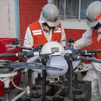 Codelco envía su dron fumigador a localidades cercanas a su operación El Teniente