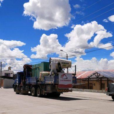 Cusco: exterminador de microbios de Las Bambas llega a Espinar