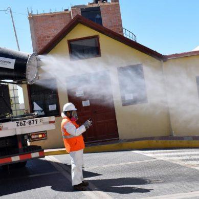 Camiones fumigadores de Southern inician desinfección de la ciudad de Tacna