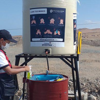 Tía María: Southern instala lavamanos en la provincia de Islay