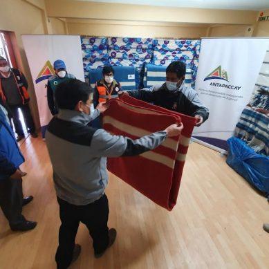 Espinar: Antapaccay dona frazadas, mantas y colchones para acoger a quienes retornan a la provincia