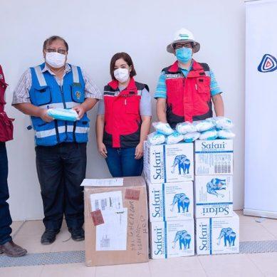 Anglo American inicia entrega de 41.000 mascarillas, 37.000 pares de guantes y 650 trajes de protección