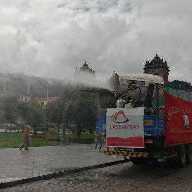 Camión fumigador de Las Bambas llegó a la ciudad imperial del Cusco