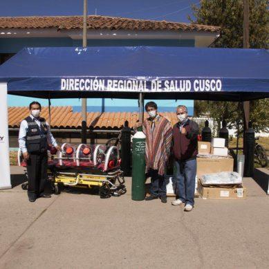 Cusco: Antapaccay entrega 12 balones de oxígeno y otros equipos para hospitales