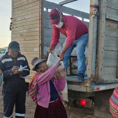 Antapaccay inicia entrega de 10.000 paquetes de víveres para familias vulnerables de Espinar