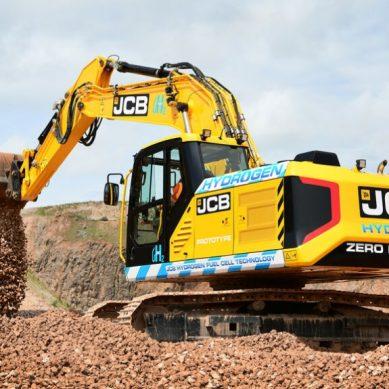 JCB crea la primera excavadora de 20 toneladas impulsada por hidrógeno