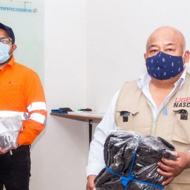 Al maestro con cariño: Marcobre dona equipos de bioseguridad para docentes